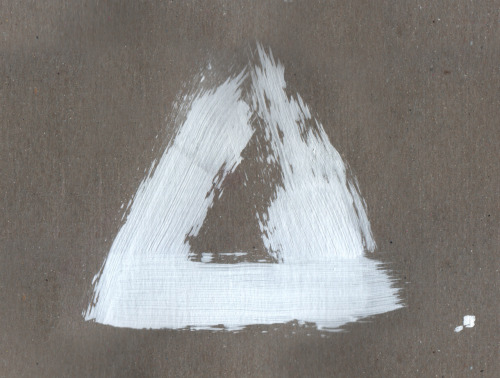 Triangle Gesso on Recycled Cardboard