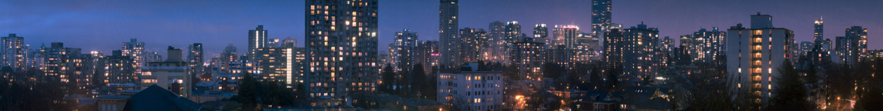 A panorama I took from my balcony .