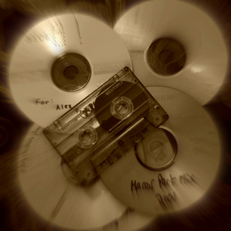 23. Mix CDs/Tapes e: Giving someone a mix tape or cd is like giving them a set of secrets to decode- what does this combination of angst, nostalgia, and desire mean for me? what is this friend/love interest/acquaintance trying to tell me? Deciphering the message over days and weeks is exciting. And going back to those mixes a few years later, listening to those songs in the right order, is magical.  a: Aside from the inherent romance in giving someone a disc or tape of songs, I've always found the exchange of mixes to be uniquely satisfying. They have unspoken rules that stem from this grand twentieth century tradition of media sharing, and they are steeped with a nostalgia deeper and older than cassette tapes.
