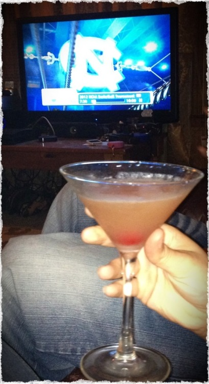 Malibu Red Martini during the UNC vs. Kansas game…we definitely needed more afterwards!