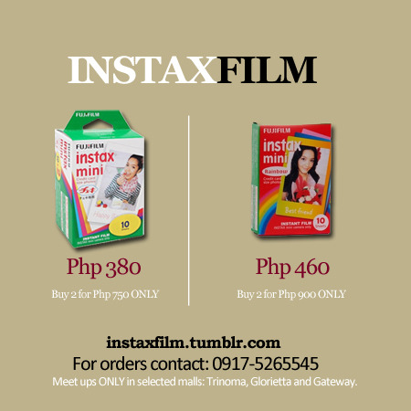 instaxfilm:  Be the first to experience marked down prices of Fujifilm Instax Mini Sheets!
