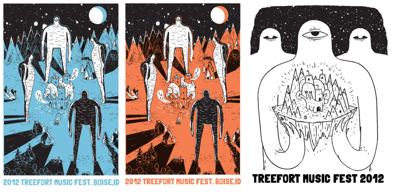 Holy cow. Treefort Music fest was a success and more importantly, Ultra fun. It was so crazy to see all of the projects I have been working on throughout the year in one place. On chests, wrists, heads, around necks, in windows and above bands and people love.