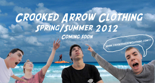 aiselife:   CROOKED ARROW CLOTHING //  Twitter // Tumblr Be on the lookout for our NEW NEW MERCH SOON SPRING/SUMMER LINE  -Aise help us get to 1000+ reblogs. Reblog this post for us