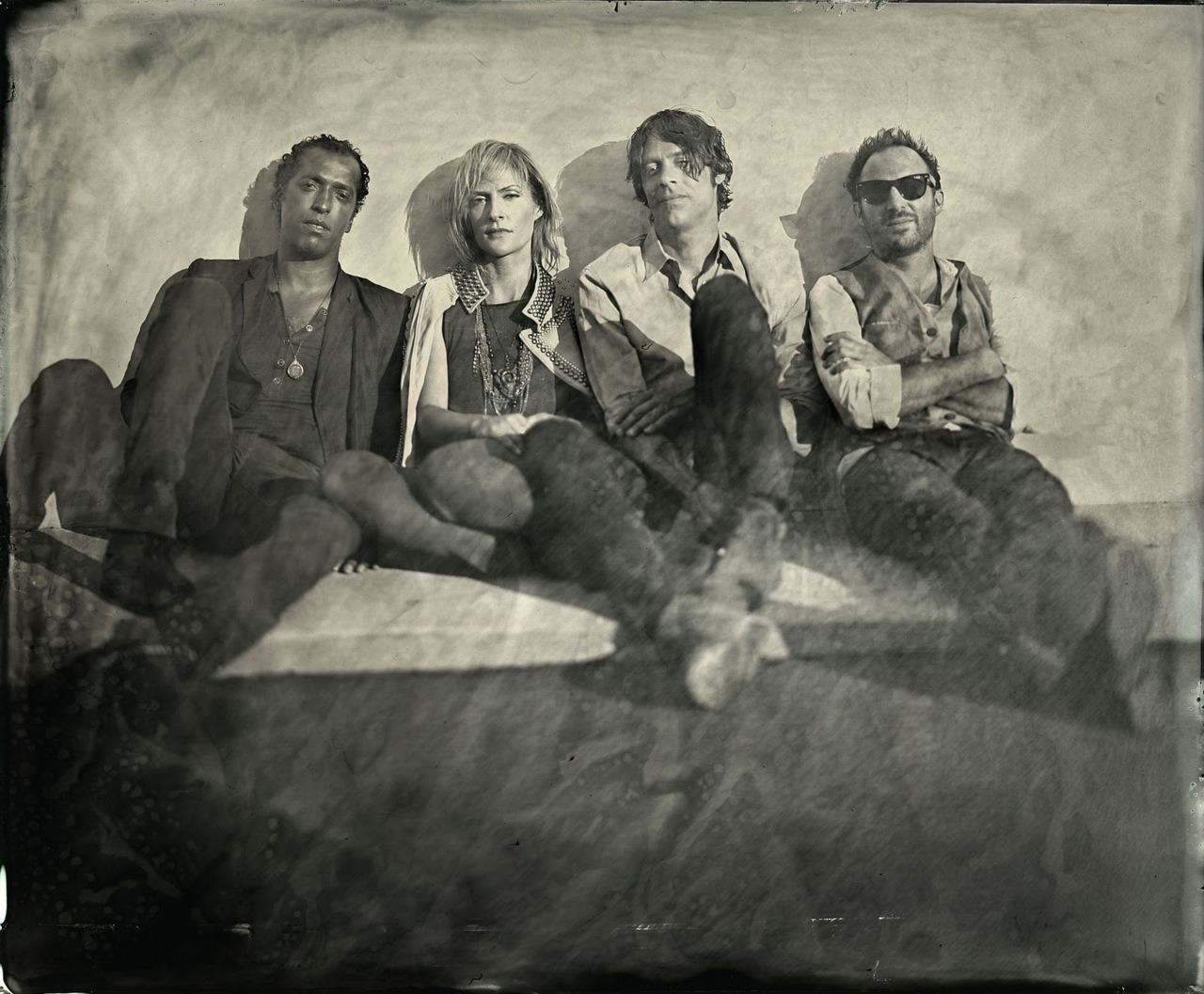 Band Metric shot in LA Ca . wet plate collodion
