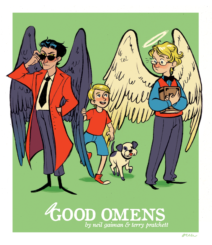 areu:  good omens! did this for a book report + i wanted to draw some fanart heheh ;u;