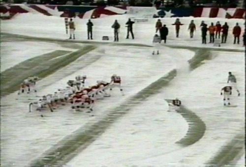 newenglandpatriotsbecause:   New England Patriots Alphabet I- The Foxboro Ice Bowl  Thank you we-are-all-patriots for the picture!
