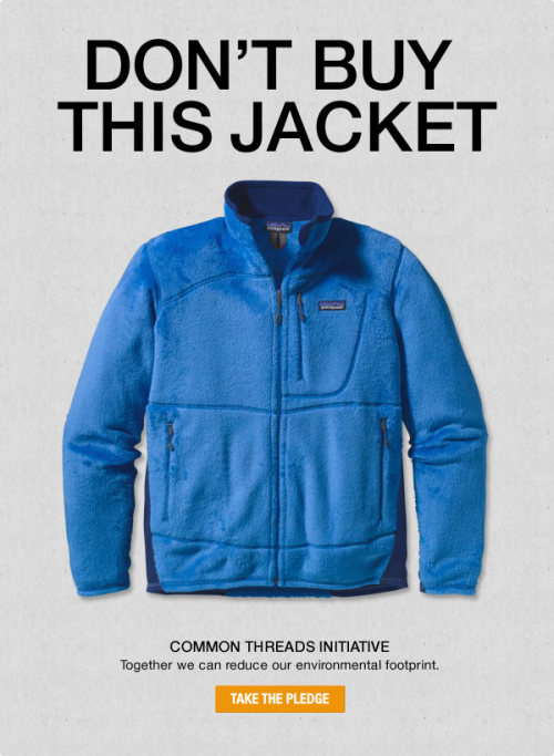 Patagonia's Don't Buy This Jacket Campaign is paying off. It's said that customers feel more loyal to the brand, and is creating the conversation that Patagonia wanted to spark. - This is one interesting campaign, but it makes sense, and sheds an incredibly positive light on Patagonia, especially considering the audience. Read the campaign Here.