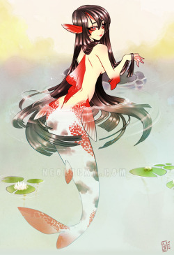 ryanmoody:  Koi Mermaid 2012 by *Neolucky