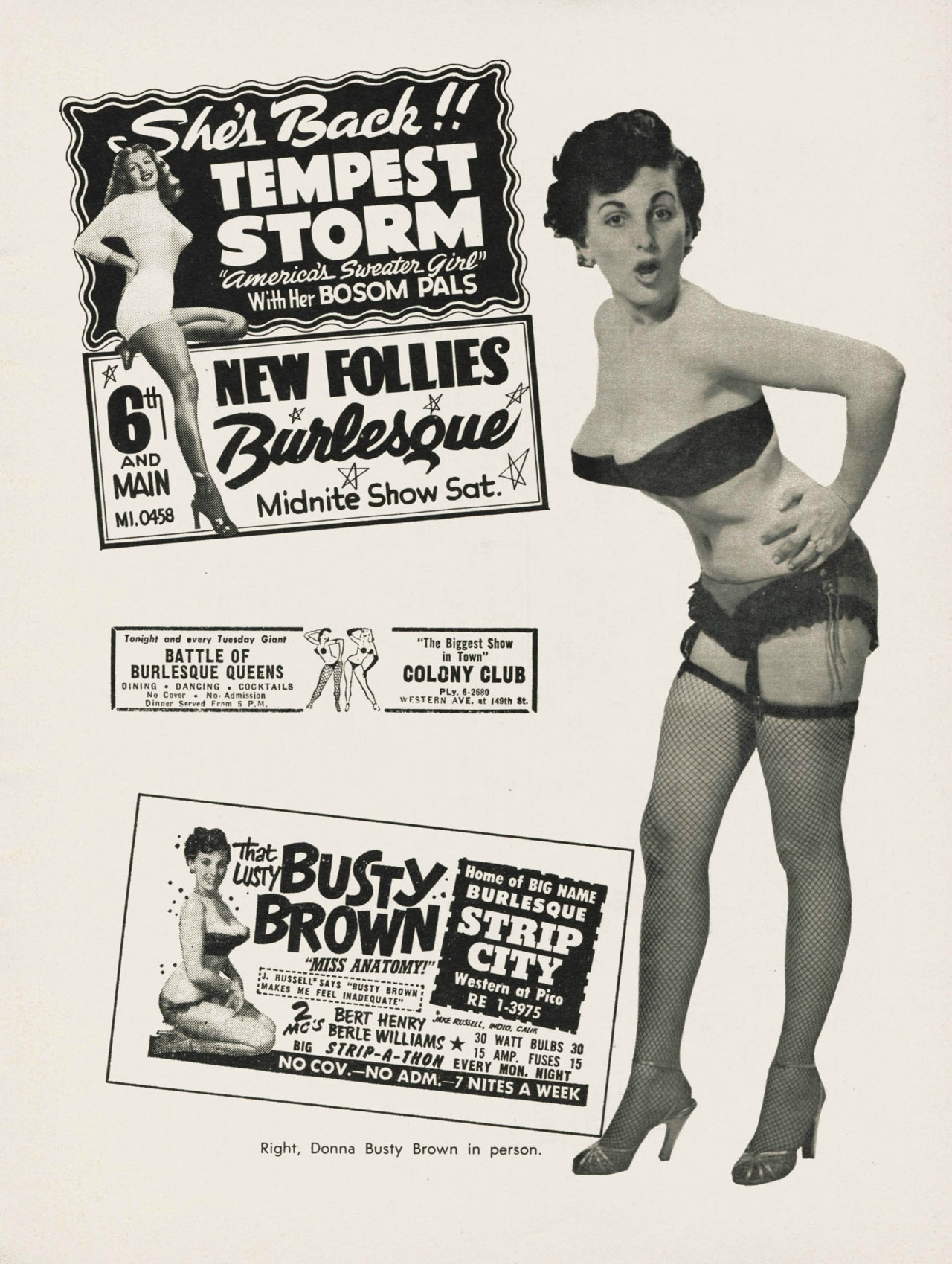 Busty Brown 1950s
