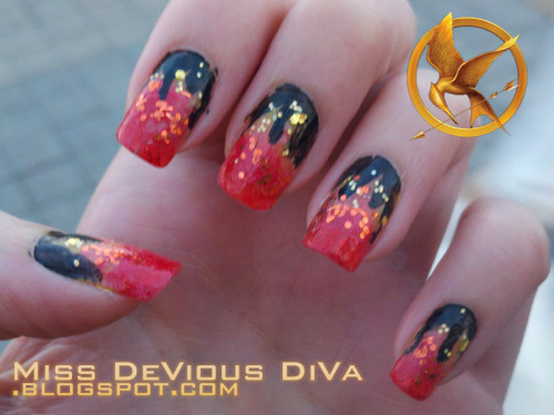 My manicure I wore to see The Hunger Games on opening day. Loved it!