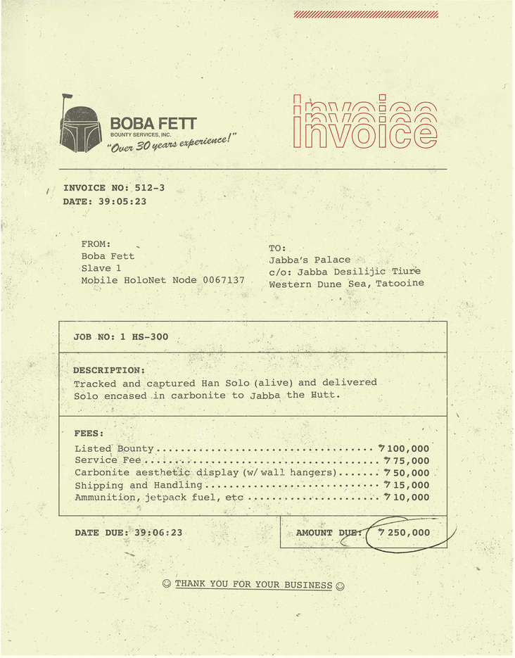 brain-food:  Boba Fett Invoice