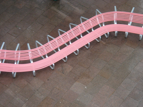 Pink Bench by Gonzales Hasse / AAS Bremen, Germany 2006