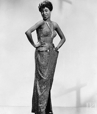 Marvelous Sarah Vaughan, pictured here in 1958, was born on this day in 1924 in Newark, New Jersey.