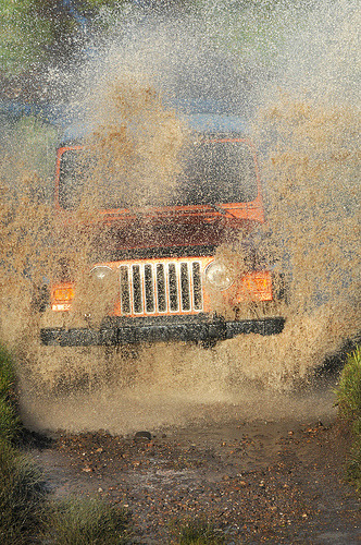 carpr0n:  Angry car wash Starring: Jeep Wrangler (by tomkellyphoto)