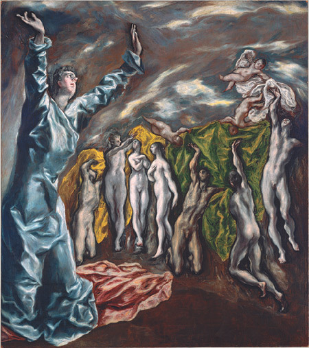 "beyondneptune:  Ten-Minute Art School Course El Greco (Domenikos Theotokopoulos) (1541-1614) by Keith Christiansen, Department of European Paintings, The Metropolitan Museum of Art  El Greco is one of the few old master painters who enjoys widespread popularity. Like Vermeer, Piero della Francesca, and Botticelli, he was rescued from obscurity by an avid group of nineteenth-century collectors, critics, and artists and became one of the select members of the modern pantheon of great painters. For Picasso, as for so many later admirers, El Greco was both the quintessential Spaniard and a proto-modern—a painter of the spirit. It was as a painter who ""felt the mystical inner construction"" of life that El Greco was admired by Franz Marc and the members of the Blue Rider school: someone whose art stood as a rejection of the materialist culture of modern life. Born in Crete, El Greco was trained as an icon painter. Two certain examples survive, and these remind us of the Neo-Platonic, non-naturalistic basis of El Greco's art, before he set about transforming himself into a disciple of Titian and an avid student of Tintoretto, Veronese, and Jacopo Bassano. He moved to Venice in 1567 (Crete was a Venetian territory). There he set about mastering the elements of Renaissance painting, including perspective, figural construction, and the ability to stage elaborate narratives. Among his finest works of this period is The Miracle of Christ Healing the Blind (1978.416). Later, in Spain, El Greco wrote treatises on painting. Although these are lost, we possess the copies he owned of the architectural treatise by the ancient writer Vitruvius and Vasari's Lives. They have El Greco's annotations in the margins.  From Venice, El Greco moved to Rome, where he worked from 1570 to 1576. He arrived with a letter of recommendation from the Croatian miniaturist Giulio Clovio, who secured him quarters in the palace of Cardinal Alessandro Farnese—perhaps the most influential and wealthy patron in all of Rome. In 1572, he joined the painter's academy and he set up shop, taking on at least one assistant, and possibly two. His intention must have been to pursue a Roman career, but after six years he had not received a single commission for an altarpiece; his reputation was based on occasional commissions for portraits and small-scale devotional paintings. El Greco had ill-advisedly criticized Michelangelo's abilities as a painter, an opinion that generated little confidence in his abilities and may have served to ostracize him from the Roman art establishment (Michelangelo had died in 1564, but his prestige in Rome was undiminished).  These were not auspicious beginnings for his career in Spain, where he moved in 1576. In Madrid, his bid for royal patronage from Philip II failed. Not until he settled in Toledo did El Greco meet with the success an artist of his caliber might have expected. In this ancient city, which El Greco immortalized in one of the most celebrated landscapes in Western art—the View of Toledo (29.100.6)—he found a sympathetic circle of intellectual friends and patrons and forged a highly profitable career. Diego de Castilla, dean of Toledo Cathedral, commissioned El Greco to paint three altarpieces for the Church of Santo Domingo el Antiguo in Toledo and was also instrumental in the commission of the Espolio (The Disrobing of Christ) for the cathedral vestiary. These are among El Greco's most ambitious masterpieces. In them can be found all of the various styles with which he had experimented in Italy: the naturalism that characterized his portraits; the painterly technique he had learned in Venice; the audacious compositional ideas of the late Michelangelo; and a Mannerist emphasis on hyper-elegance and refinement. A dispute over the price El Greco demanded for the Espolio led to litigation and left a mark on the artist's subsequent career: he never received another comparable commission from the cathedral authorities; in the future, his commissions were to come from private individuals and convents in the city.  El Greco's most celebrated painting, The Burial of Count Orgaz, was commissioned by the parish priest of Santo Tomé in Toledo in 1586 to celebrate the restitution of a financial obligation to the church. It honors a long-dead benefactor, at whose funeral Saints Stephen and Augustine were seen to miraculously appear to assist in the burial. The picture depicts this miracle as well as the count's soul being received into Paradise. When seen in the church, the painting has the arresting character of a vision. El Greco's son Jorge kneels fictively on the edge of the picture plane, looking out and indicating to the viewer the miracle El Greco has conjured up. The figure thus serves as intermediary between the real world of the viewer and the fictional world of the painting, which gains added resonance through the inclusion of a series of portraits of El Greco's contemporaries. (El Greco was a remarkable portraitist [29.100.5], able not only to record a sitter's features but to convey his character.) Above the funeral is depicted a heavenly vision, where a very different visionary experience is depicted: the verisimilitude of the earthly event is rejected in favor of a world of shifting planes inhabited by chimera-like personages. The Burial of Count Orgaz is central to our understanding of El Greco because it encapsulates the object of his art, which is to suggest a visionary experience—something that is not an extension of our physical world but of our imaginative faculties.  Toledo was far removed from the artistic ferment of Rome, but it was no bastion against the forces—cultural as well as artistic—that were to shape the art of the seventeenth century. It is all too easy to treat El Greco's achievement in isolation, as though it were an art outside of its time—an art waiting to be discovered by the modern era. Yet when El Greco died in 1614, Caravaggio and Annibale Carracci—the creators of the new Baroque style—had been buried for four and five years, respectively. It is enough to mention these figures to realize that in important respects El Greco's art belonged to the past, not the future: to the world of Mannerism, with its emphasis on the artist's imagination rather than the reproduction of nature.  Francisco Pacheco—painter, artist's biographer, and teacher of Velázquez—visited El Greco in his studio in Toledo and recorded seeing plaster, wax, and clay figures from which he worked. Pacheco did not approve of this method, which El Greco had doubtless learned from Tintoretto in Venice: a real human figure rather than something modeled in clay was what Pacheco advocated. But he could not deny El Greco's place among the great painters, ""for we see some works by his hand so plastic and so alive (in his characteristic style) that they equal the art of the very best."" He may have had in mind El Greco's portraits, which Velázquez prized highly. Yet it is the most extravagant late works of the artist, such as The Opening of the Fifth Seal (56.48), in which the figures are elongated beyond credibility and their forms dematerialized by a flickering brushwork, that have appealed so strongly to modern tastes.  El Greco rejected naturalism as a vehicle for his art just as he rejected the idea of an art easily accessible to a large public. What he embraced was the world of a self-consciously, erudite style, or maniera. The paradox is that, at a time when the blatant display of artifice inherent in Mannerism was being criticized as an indulgence, and artists in Rome were striving to rid their paintings of anything that might seem mere display, El Greco took just the opposite route. He made elongated, twisting forms, radical foreshortening, and unreal colors the very basis of his art. The difference was that he made these effects deeply expressive and not merely emblems of virtuosity.  No other great Western artist moved mentally—as El Greco did—from the flat symbolic world of Byzantine icons to the world-embracing, humanistic vision of Renaissance painting, and then on to a predominantly conceptual kind of art. Those worlds had one thing in common: a respect for Neo-Platonic theory about art embodying a higher realm of the spirit. El Greco's modernism is based on his repudiation of the world of mere appearances in favor of the realm of the intellect and the spirit. [via]"