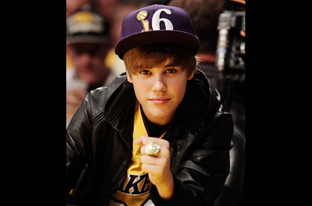 "Bieber's got more rings than LeBron. Laker fans can celebrate their 16 rings to LeBron's none with the ""&more - LA"" shirt, available at MoreRingsThanLeBron.com"