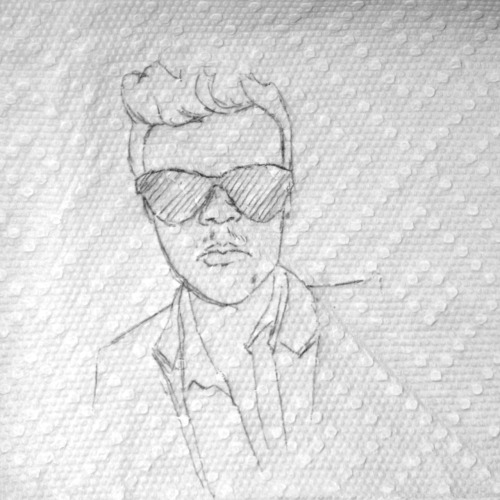 30days-30pages:  Day2 Ross Pen on Paper Towel–Joshua