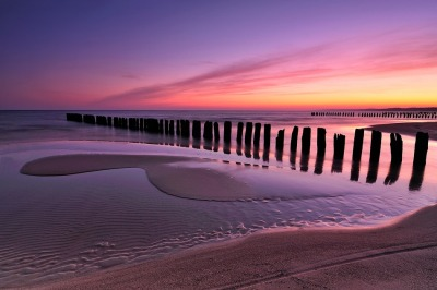 Autumn sunrise at the Baltic Sea by Michal Ostrowski