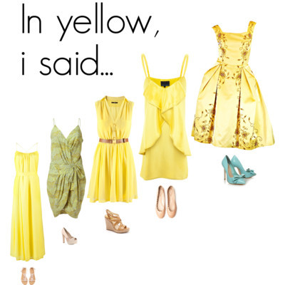 In yellow, i said… by sonocri featuring knee length dressesBeaded evening dressfashion.1stdibs.comCynthia rowley dress$385 - cynthiarowley.comThakoon Addition cotton tank dress£299 - farfetch.comTwenty8Twelve tulip dress$295 - stylebop.comH M knee length dress£25 - hm.comChloé ballet shoes$450 - kirnazabete.comCarvela Kurt Geiger heel pumps£120 - kurtgeiger.comMICHAEL Michael Kors strappy sandals$120 - neimanmarcus.comDorothy Perkins peep toe pumps$69 - dorothyperkins.comH&M suede sandals£15 - hm.com