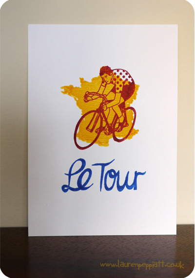 I was really pleased to get this little print featured on the Stylish Cyclist Blog. It also made its public debut at Bespoked Bristol (handmade bicycle show) on Friday