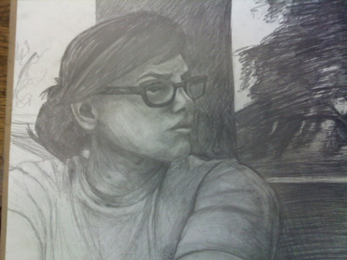 Self Portrait in Pencil  mah art blahg