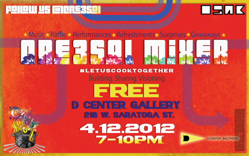 cre3solevent:  #LetUsCookTogether Sharing. Building. Visioning. Mixing. Music Performances Giveaways Refreshments Surprises FREE ::Featuring Women:An Exhibit::