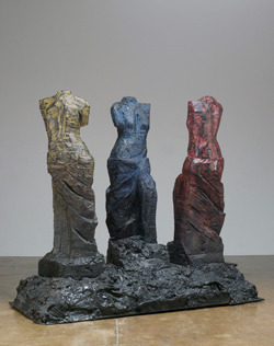 "Jim Dine, ""Primary Ladies"", 2008, Painted bronze, Photo by: Kerry Ryan McFate / Courtesy The Pace Gallery © Artists Rights Society/ ARS NY Reminder that Sculpture / Jim Dine / Pinocchio will be opening today at the Nassau County Museum!"