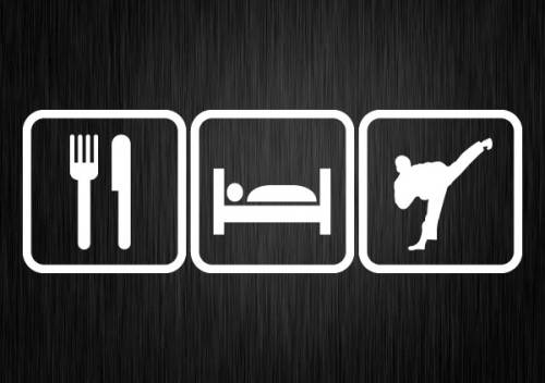 Eat, Sleep, Train.