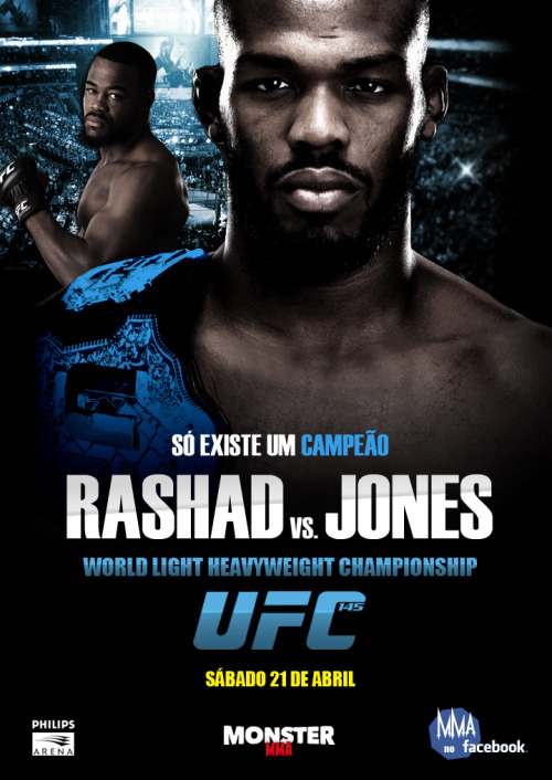 fightersblog:  UFC 145 - Jon 'Bones' Jones vs. 'Suga' Rashad Evans