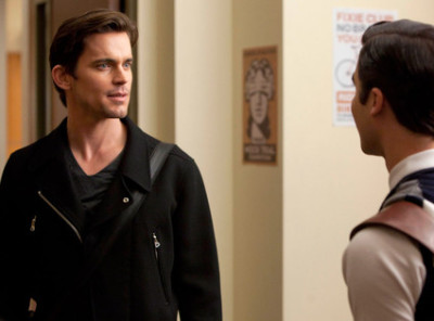 "EXCLUSIVE First Look: Matt Bomer In ""Glee"" Finally, the moment we've all been waiting for: Matt Bomer's ""Glee"" arrival. To say I'm extremely excited would be an understatement. As a huge of USA Network's TV series ""White Collar,"" I couldn't wait to see the extremely good-looking, devious con artist Neal Caffery turn into a ""Glee""-singing hunk.  In the upcoming episode ""Big Brother,"" Bomer will play Blaine Anderson's (Darren Criss) big brother Cooper Anderson—even his character name is die-worthy! With their swoon-worthy Anderson genetics, the brosome will perform a undoubtedly epic Duran Duran mashup.  Tune in Tuesday, April 10 8