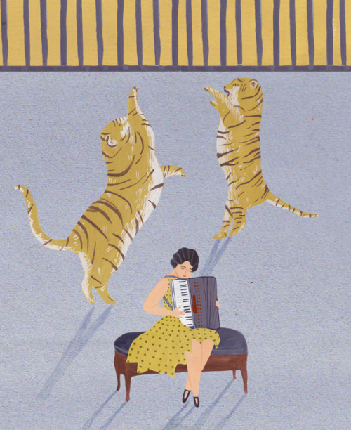 beautiful tigers! accordion woman! breakalead:  Naomi Wilkinson