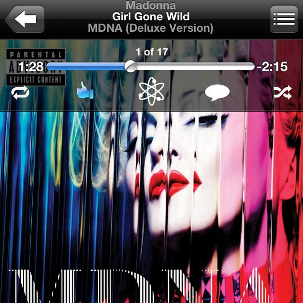 Girl Gone Wild - this track is exploding my iPhone!  (Taken with instagram)