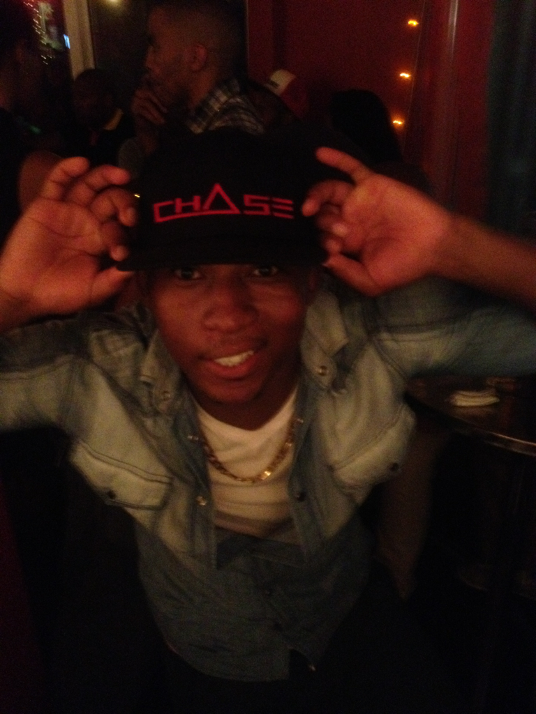 The Motswak Originator, Mr Khuli Chana at #CHASESunday. Fresh in the black and red snap-back!