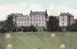 St. Macartan's College, Monaghan - where I went to school. There are classroom blocks to the right now, from the 70s and 80s, and sports facilities off to the right. But the central original buildings and quadrangle are largely the same today as in the postcard. Building by Thomas Duff of Newry.