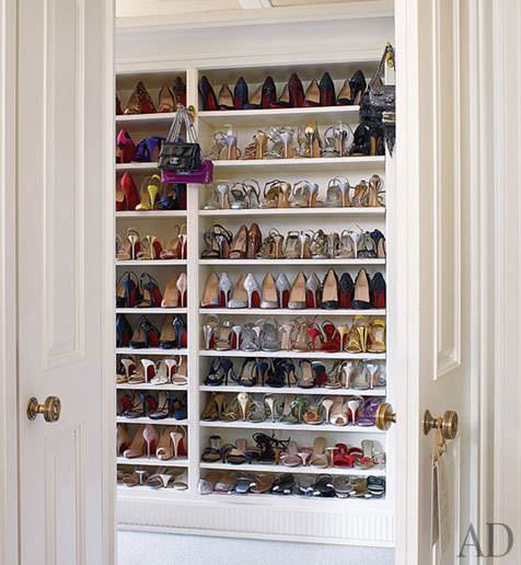 I like the idea of hanging little pegs between every closet division! :) I could use them to hang outfit options for the day.