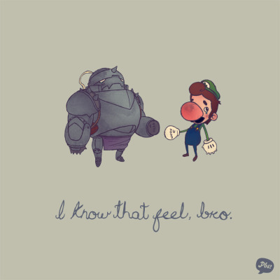 paperbeatsscissors:  Little brother blues? I know that feel, bro. Hey, you can go vote on my new THREADLESS TEE if you want. Or not. It's just, you know, I thought we were friends…