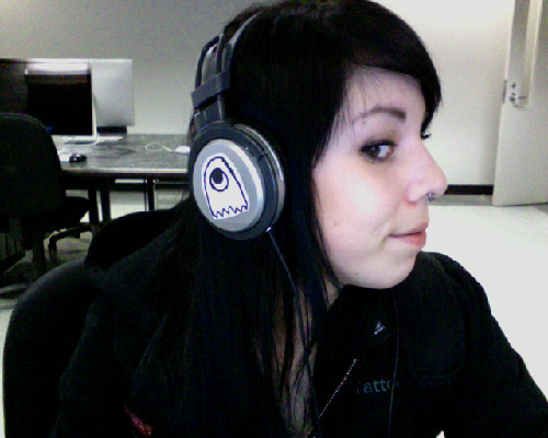 In the labs, check out the sticker I put on my headphones;)