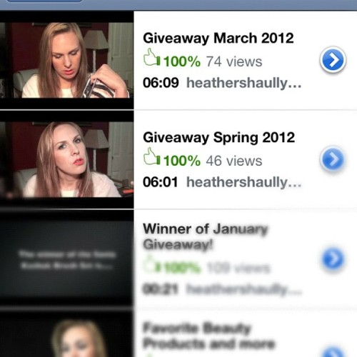 Check out my #makeup #giveaways on #youtube (Taken with instagram)