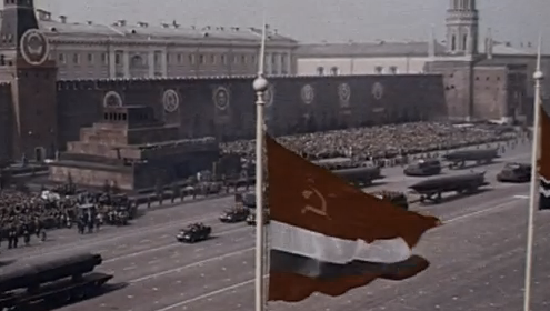 "MARCH 27, 1958: Nikita Khrushchev Becomes Soviet Union's PremierAlready  holding the position of Soviet First Secretary, Nikita Khrushchev became the premier for the Soviet Union.Beginning in the 1950s, American and Soviet scientists engaged in a dangerous race to see who could build and detonate the world's largest bomb. Watch this scene from Secrets of the Dead's ""The World's Biggest Bomb"" of the Soviet leader watching a long-range missile parade as a show of the Soviet Union's missile strength."