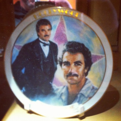 Tom Selleck Commemorative Plate (Taken with instagram)