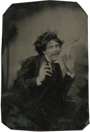 tuesday-johnson:  ca. 1870-79, [tintype portrait of a pantomimist] via the Metropolitan Museum of Art, Photographs Collection