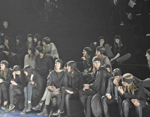 rehearsals at Sonia rykiel fall 2012-13