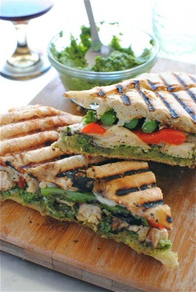 A great recipe for a chicken pesto panini. from gastrogirl