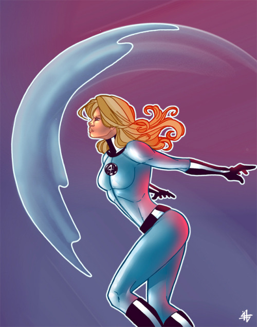 invisible woman colored by =windriderx23