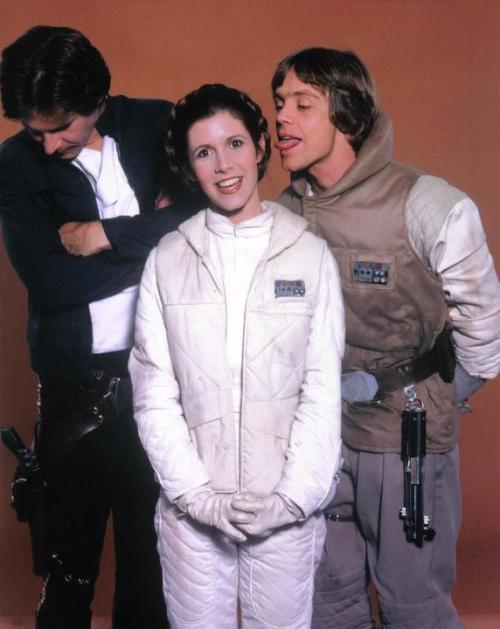Photo evidence that Luke and Leia are related. It's like the Christmas photo outtakes.