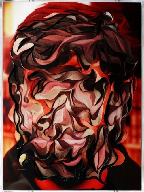 Multilayered Portraits Creative artworks composed of several layers of shapes and colors by Brasilian artist Lucas Simões. See more here: fubiz.net via: MAG.WE AND THE COLORFacebook // Twitter // Google+ // Pinterest