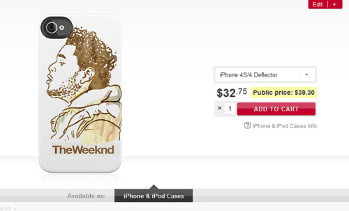 http://www.redbubble.com/people/mkindy/works/8654219-the-weeknd?p=iphone-case  Iphone cases available now at my Redbubble page :D SHOW SOME LOVE OVOXO