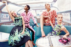 Florals, for spring? Why of course!(Image via Vogue Netherlands April 2012)