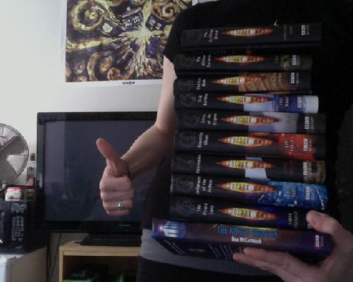 mylovelybluebox:  Me. I have all of the Doctor Who Books. :)