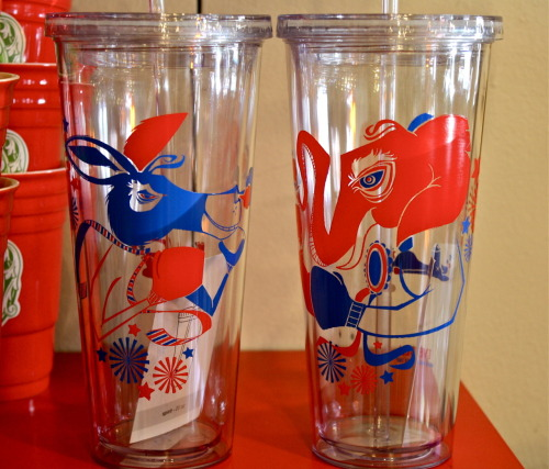 Democrat & Republican Vessel Drinkware. 20oz. $14.00